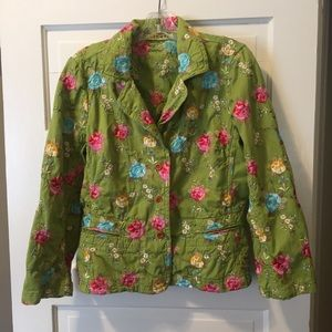 Johnny Was green embroidered jacket blazer coat M